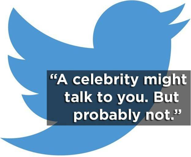 Twitter - A celebrity might talk to you