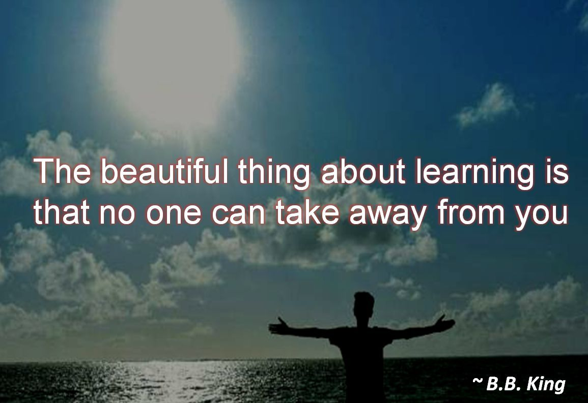 B.B. King- The beautiful thing about learning is that no one can take away from you