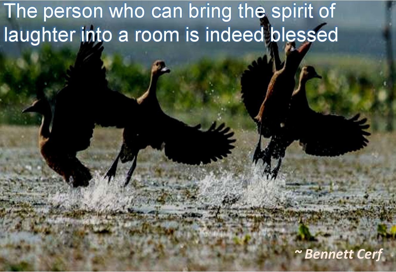Bennett Cerf- The person who can bring the spirit of laughter into a room is indeed blessed