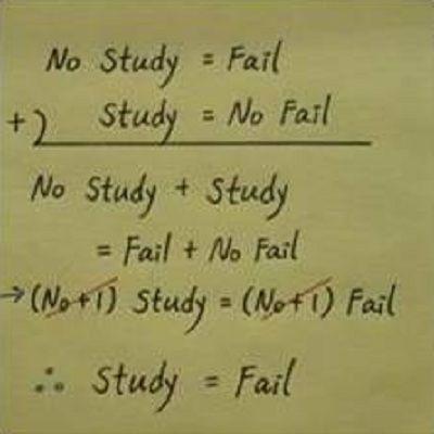 No Study Fail
