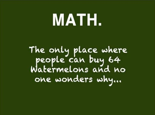 The only place where people can buy64 watermelons and no one wonders why..