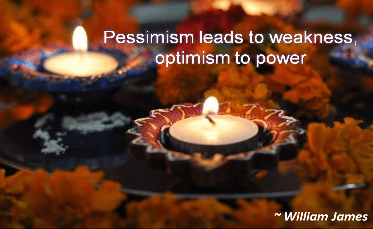 William James- Pessimism leads to weakness, optimism to power