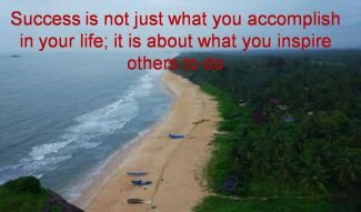 Anonymous- Success is not just what you accomplish in your life; it is about what you inspire others to do