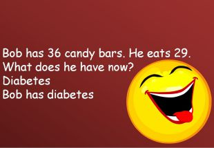 Bob has 36 candy bars. He eats 29. What does he have now