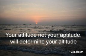Zig Ziglar- Your attitude not your aptitude, will determine your altitude